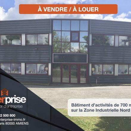 ENTERPRISE Immobilier d'Entreprise commercialise un bâtiment d'activités de 700 m2