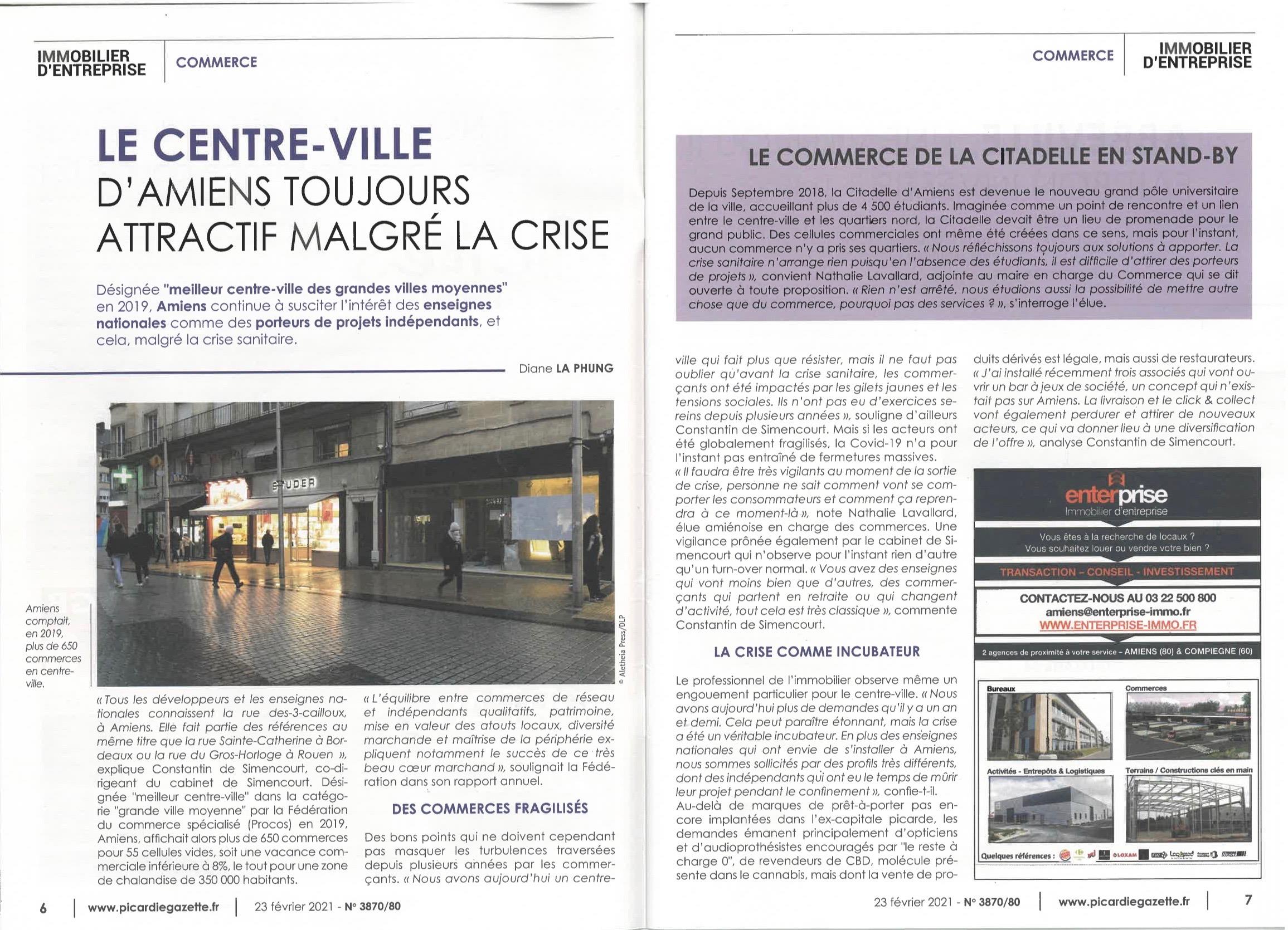 ENTERPRISE Immobilier d'Entreprise est dans Picardie La Gazette